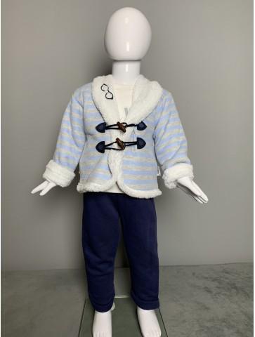 Зимен комплект с пухкаво сако