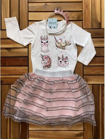Комплект блуза, пола и диадема