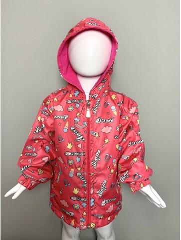 Розово водоотблъскващо яке...