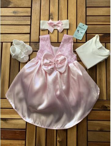 Розова рокля за новородено
