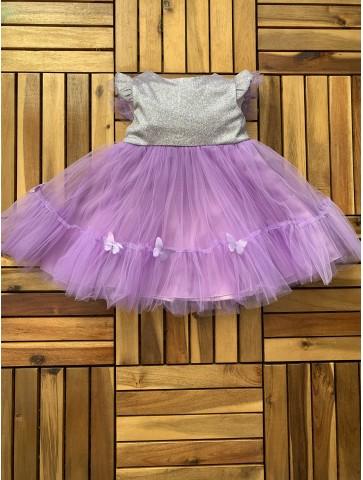 Брокатена рокля с пеперудки